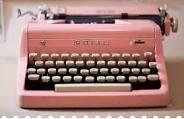 pink typewritter